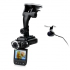 2.0'' TFT 5.0MP CMOS Separated Style Dual Lens Wide Angle Car DVR Camcorder w/ 8-IR Night Vision