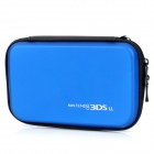 Stylish PU Leather + Fabric Protective Bag for Nintendo 3DS XL / 3DS LL - Blue