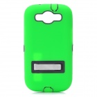 Robot Style Protective Plastic Back Case w/ Silicone Cover for Samsung Galaxy S III i9300 - Green