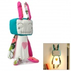 Cute Cartoon Rabbit Style Wall Light Lamp - Pink + White + Dark Cyan