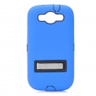 Robot Style Protective Plastic Back Case w/ Silicone Cover for Samsung Galaxy S III i9300 - Blue