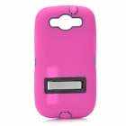 Robot Style Protective Plastic Back Case w/ Silicone Cover for Samsung i9300 - Deep Pink