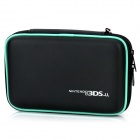Stylish PU Leather + Fabric Protective Bag for Nintendo 3DS XL / 3DS LL - Black