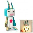 Cute Cartoon Rabbit Style Wall Light Lamp - White + Dark Cyan