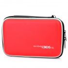 Stylish PU Leather + Fabric Protective Bag for Nintendo 3DS XL / 3DS LL - Red