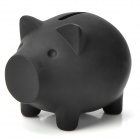 Cute Cartoon Pig Style Coin Piggy Bank - Black