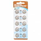 AG10 / LR54 / LR1130 / 189 68mAh 1.55V Alkaline Cell Button Batteries (10 PCS)