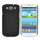 Protective Plastic Back Case w/ Screen Protector for Samsung Galaxy S3 i9300 - Black