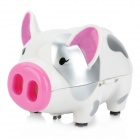 AY-3228 Mini Pig Style Desktop Cleaner - White + Pink + Silver (2 x AA)