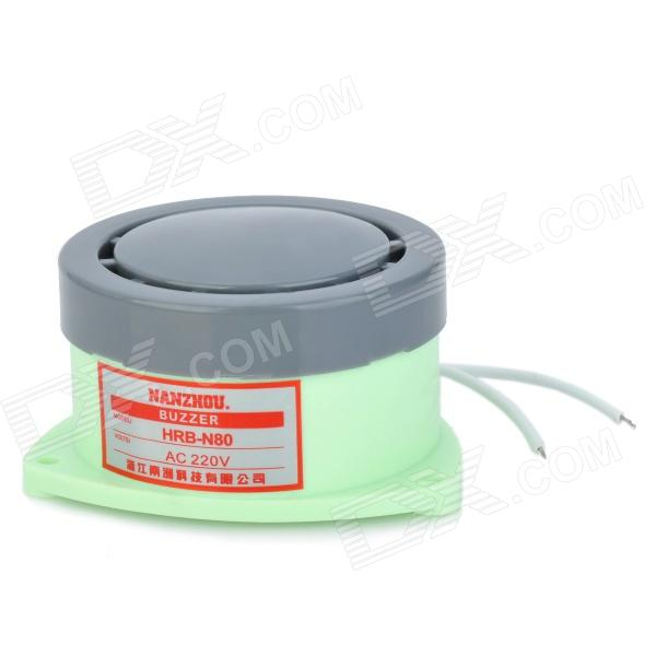 80dB Loud Security Alarm Buzzer - Light Green + Grey (AC 220V)