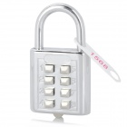 8-Digit Luggage Case Bag Security Resettable Combination Padlock - Silver