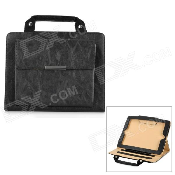 Handheld Briefcase Style Protective PU + PV Case for Ipad 2 / The New Ipad - Black yuneec q500 typhoon quadcopter handheld cgo steadygrip gimbal black