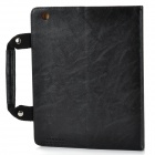Handheld Briefcase Style Protective PU + PV Case for Ipad 2 / The New Ipad - Black