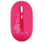 Lingdu L-510 1000 / 1600dpi Wireless Optical Mouse - Deep Pink (2 x AAA)