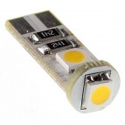 Can-bus T10 1.8W 3-5050 SMD LED Warm White Light Car Decoration Light (12V)