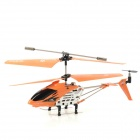 2.4GHz Portable Rechargeable 4-CH R/C Helicopter w/ Gyroscope - Orange (6 x AA)