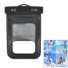 Universal Waterproof Bag with Armband / Lanyard for Iphone / Cell Phone - Black