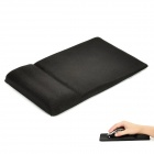 High Quality Non-slip Wrist Rest Mouse Pad - Black