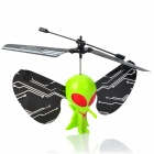 Mini Rechargeable 1-Channel IR Controlled R/C Alien Toy - Green + Black
