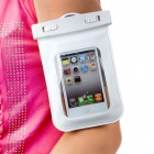 Universal Waterproof Bag with Armband / Lanyard for Iphone / Cell Phone - White