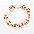 XY21 Bohemian 16mm Schädel Mud Turquoise Bracelet - White