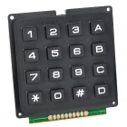DIY 4 x 4 16-Key Numeric Keypad - Black