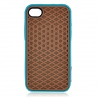 Creative Sole Style Protective Silicone Back Case for iPhone 4 / 4S - Brown + Blue