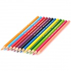 HJB-06 12-in-1 Plastic + Carbon Colorful Pencil Set - Multicolored (12 PCS)