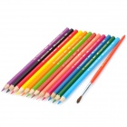 HJB-05 12-in-1 Plastic + Carbon Colorful Pencil Set - Multicolored (12 PCS)