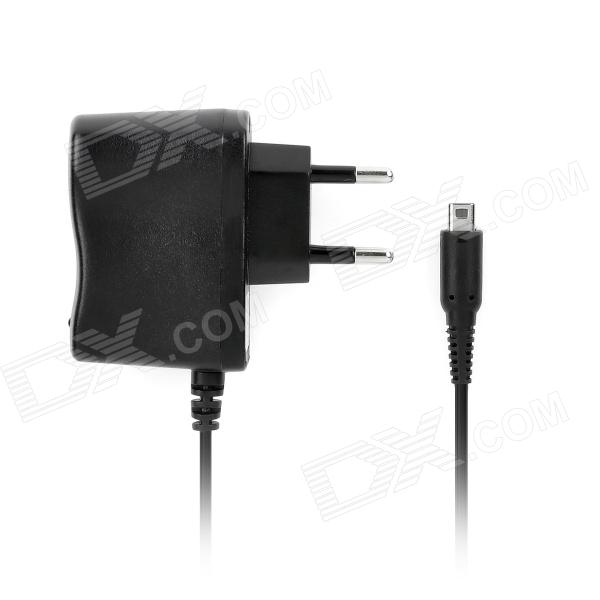 AC Power Adapter Charger for Nintendo 3DS XL / 3DS LL - Black (2-Round-Pin Plug)