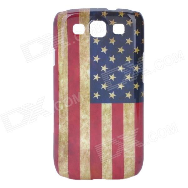 Retro US National Flag Pattern Protective Plastic Back Case for Samsung i9300 - Red + Blue + Yellow цена и фото