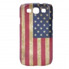 Retro US National Flag Pattern Protective Plastic Back Case for Samsung i9300 - Red + Blue + Yellow