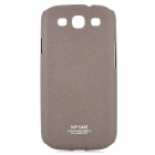 Stylish Protective Frosted PC Back Case for Samsung Galaxy S3 i9300 - Brown