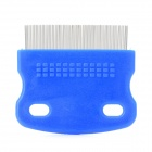 Mini Portable Pet Dog Grooming Comb - Blue + Silver
