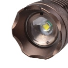 NEW-710 860lm 3-Mode White Light Zoom Flashlight - Coffee (3*AAA)