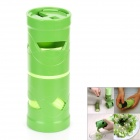 Multifunction Plastic / Stainless Steel Vegetable Fruit Twister Processing Device - Green