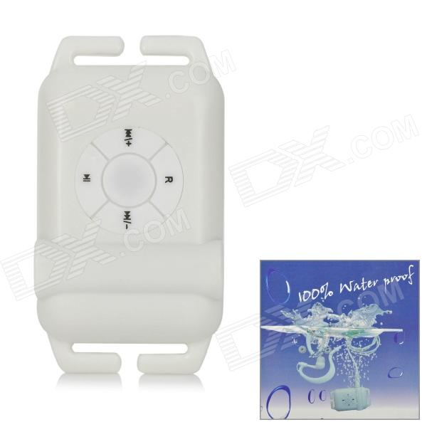 Reproductor MP3 resistente al agua con radio FM - Blanco (4 GB)