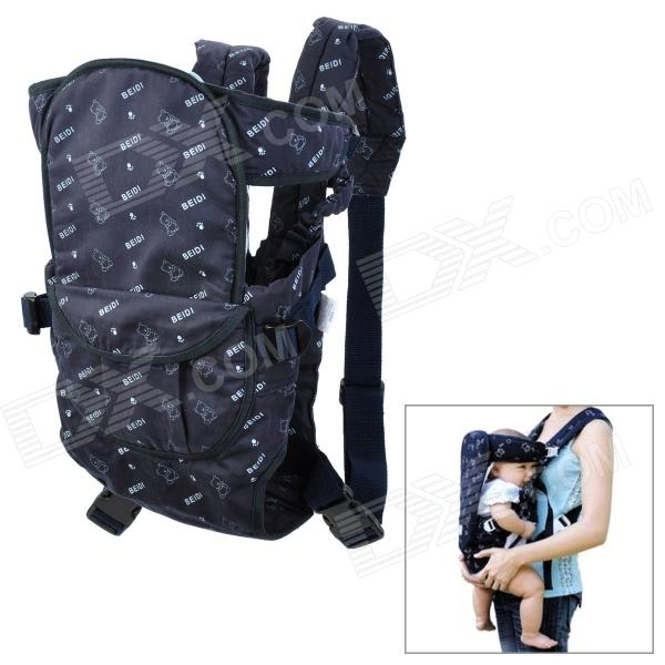 Multi-Position Cotton Infant Baby Harness Carrier - Deep Blue