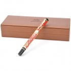 Exquisite Steel Fountain Pen with Hollowed-out Dragon Pattern - Red + Golden