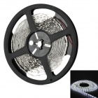 24W 1800lm 6500K 300-SMD LED White Light Strip - White + Black (5M)