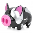 AY-3228 Mini Pig Style Desktop Cleaner - Black + Silver + Pink (2 x AA)