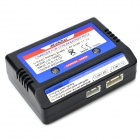 2-3S 7.4V / 11.1V Li-ion Battery Charger w/ Alligator Clip - Black + Blue