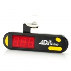 S-21 Digital Red LED USB Thermometer w/ Plug Adapter / Suction for Public Aquarium - Black + Yellow