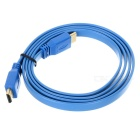 1080P HDMI 1.4 Male to Male High-Definition Flat Cable - Deep Blue (150cm)