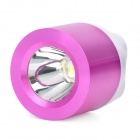 Mini Portable USB 1W White 1-LED Flashlight - Light Purple + White