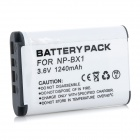 Replacement 1240mAh 3.6V Li-ion Battery for Sony NP-BX1 - White