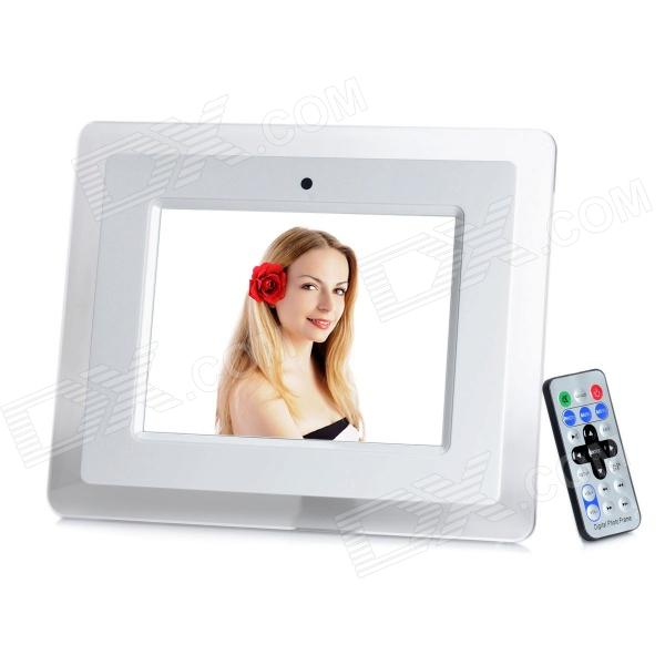 "Stylish 8"" Digital Photo Frame w/ SD / USB - White (800 x 600)"
