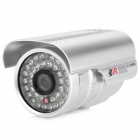Water Resistant Surveillance Security Camera w/ 36-LED IR Night Vision - Silver (PAL)