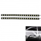 9W 6000K 360LM 18-LED White Light Car Daytime Running Lights - Black (DC 12V / 2 PCS)