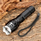 MXDL SA-813 Cree XM-L T6 500LM 5-Mode White Zoom Flashlight - Black + Silver (3 x AAA / 1 x 18650)